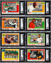 1955 Topps Football High-Grade Complete Set (100) Plus White and Tinsley Errors