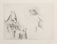 Pablo Picasso (1881-1973) Series 156:143, 1971 Etching on wove paper 14-3/8 x 19-1/2 inches (36.5