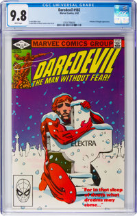 Daredevil #182 (Marvel, 1982) CGC NM/MT 9.8 White pages