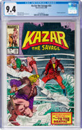 Modern Age (1980-Present):Superhero, Ka-Zar the Savage #33 (Marvel, 1984) CGC NM 9.4 White pages....