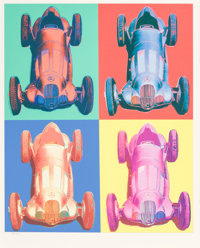 After Andy Warhol Mercedes-Benz Rennwagen W 125, 2007 Digital print on handmade archival paper 20 x 16 inches (50.8