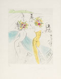Prints & Multiples:Print, Salvador Dalí (1904-1989). Les Femmes-fleurs au piano, from The Hippies, 1969. Etching with handcoloring on Japon pa...