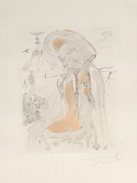 Salvador Dalí (1904-1989) Athena, from The Mythology, 1963 Etching on Arches paper 30 x 22-1/4 inches (76.2 x 56...