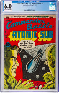 Commander Battle And The Atomic Sub #3 (ACG, 1954) CGC FN 6.0 Off-white to white pages