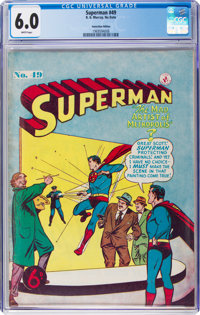 Superman #49 (K. Gordon Murray Productions Inc., No Date) CGC FN 6.0 White pages