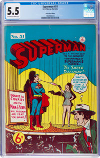 Superman #51 (K. Gordon Murray Productions Inc., No Date) CGC FN- 5.5 Off-white to white pages