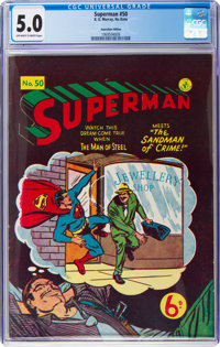 Superman #50 (K. Gordon Murray Productions Inc., No Date) CGC VG/FN 5.0 Off-white to white pages