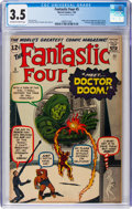 Silver Age (1956-1969):Superhero, Fantastic Four #5 (Marvel, 1962) CGC VG- 3.5 Off-white to whitepages....