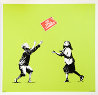 Banksy (British, b. 1974) No Ball Games, 2009 Silkscreen in colors on wove paper 26-1/2 x 27-1/2