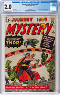 Silver Age (1956-1969):Superhero, Journey Into Mystery #83 (Marvel, 1962) CGC GD 2.0 Off-white to white pages....