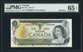 Canadian Currency, Canada Bank of Canada $1 1973 BC-46a PMG Gem Un...