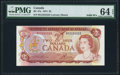 Canadian Currency, Canada Bank of Canada $2 1974 BC-47a PMG Choice...