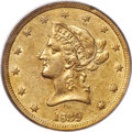 Liberty Eagles, 1839 $10 Small Letters, Head of 1840, XF40 PCGS....