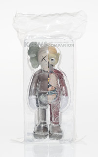 KAWS (b. 1974) Dissected Companion, 2016 Painted cast vinyl 10-3/4 x 5-1/2 x 3-1/2 inches (27.3 x