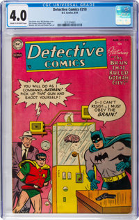 Detective Comics #210 (DC, 1954) CGC VG 4.0 Cream to off-white pages