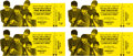 Music Memorabilia:Tickets, The Beatles Unused A Hard Day's Night Tickets (4) (1964). . ...