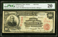 National Bank Notes:New Jersey, Hoboken, NJ - $10 1902 Red Seal Fr. 615 The Second NB Ch. # (E)3744 PMG Very Fine 20.. ...