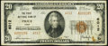 National Bank Notes:Utah, Price, UT - $20 1929 Ty. 2 The First NB Ch. # 6012 Very Fine.. ...