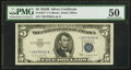 Small Size:Silver Certificates, Fr. 1657* $5 1953B Silver Certificate. PMG About Uncirculated 50.. ...
