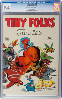 Four Color #60 Tiny Folks Funnies (Dell, 1944) CGC NM 9.4 Cream to off-white pages