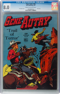 Four Color #66 Gene Autry (Dell, 1945) CGC VF 8.0 Cream to off-white pages