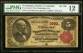 National Bank Notes:District of Columbia, Washington City, DC - $5 1882 Brown Back Fr. 472 The Citizens NB Ch. # 1893 PMG Fine 12.. ...