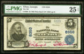 National Bank Notes:Georgia, Tifton, GA - $5 1902 Plain Back Fr. 600 The NB of Tifton Ch. # 8350 PMG Very Fine 25 EPQ.. ...