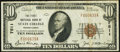 National Bank Notes:Pennsylvania, State College, PA - $10 1929 Ty. 1 The First NB Ch. # 7511 Very Fine+.. ...