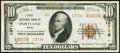 National Bank Notes:Maine, Portland, ME - $10 1929 Ty. 2 First NB Ch. # 13716 Very Fine+.. ...