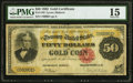 Large Size:Gold Certificates, Fr. 1193 $50 1882 Gold Certificate PMG Choice Fine 15.. ...