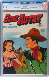 Four Color #75 Gene Autry - Vancouver Pedigree (Dell, 1945) CGC NM- 9.2 White pages