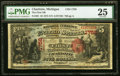 National Bank Notes:Michigan, Charlotte, MI - $5 1875 Fr. 401 The First NB Ch. # 1758 PMG Very Fine 25.. ...