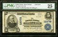 National Bank Notes:New Jersey, Little Ferry, NJ - $5 1902 Plain Back Fr. 609 The Little Ferry NB Ch. # 12378 PMG Very Fine 25.. ...