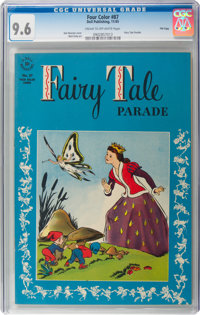 Four Color #87 Fairy Tale Parade - File Copy (Dell, 1945) CGC NM+ 9.6 Cream to off-white pages