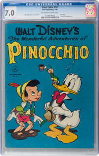 Four Color #92 Pinocchio (Dell, 1946) CGC FN/VF 7.0 Off-white to white pages