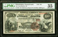 National Bank Notes:Pennsylvania, Philadelphia, PA - $10 1882 Brown Back Fr. 480 The Consolidation NB Ch. # 561 PMG Choice Very Fine 35.. ...