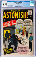 Silver Age (1956-1969):Science Fiction, Tales to Astonish #4 (Marvel, 1959) CGC FN/VF 7.0 Cream tooff-white pages....