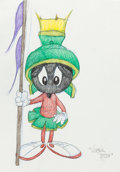 Animation Art:Production Drawing, Virgil Ross - Marvin the Martian Drawing (Warner Brothers, c. 1990s). ...