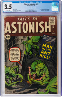 Tales to Astonish #27 (Marvel, 1962) CGC VG- 3.5 Off-white pages