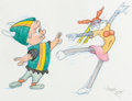Animation Art:Production Drawing, Virgil Ross - Elmer Fudd and Bugs Bunny Drawing (Warner Brothers, c. 1990s)....