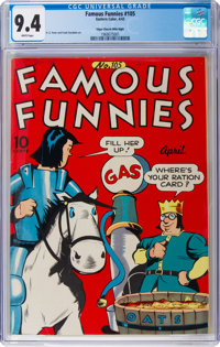 Famous Funnies #105 Mile High Pedigree (Eastern Color, 1943) CGC NM 9.4 White pages