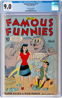 Famous Funnies #117 Mile High Pedigree (Eastern Color, 1944) CGC VF/NM 9.0 White pages