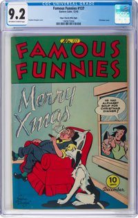 Famous Funnies #137 Mile High Pedigree (Eastern Color, 1945) CGC NM- 9.2 Off-white to white pages