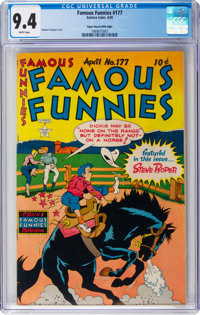 Famous Funnies #177 Mile High Pedigree (Eastern Color, 1949) CGC NM 9.4 White pages