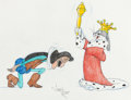 Animation Art:Production Drawing, Virgil Ross - Bugs Bunny and the Sheriff of Nottingham (WarnerBrothers, c. 1990s)....