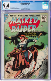 Masked Raider #4 Mile High Pedigree (Charlton, 1956) CGC NM 9.4 White pages
