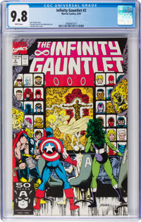 The Infinity Gauntlet #2 (Marvel, 1991) CGC NM/MT 9.8 White pages