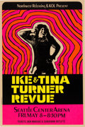 Music Memorabilia:Posters, Ike & Tina Turner Hot Pink Day-Glo Concert Poster (1970).. ...