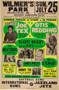 Music Memorabilia:Posters, Otis Redding / Joe Tex 1965 Rhythm & Blues Globe Concert Poster.. ...