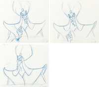 Aladdin Jafar Animation Drawings Sequence of 3 (Walt Disney, 1992).... (Total: 3 Items)